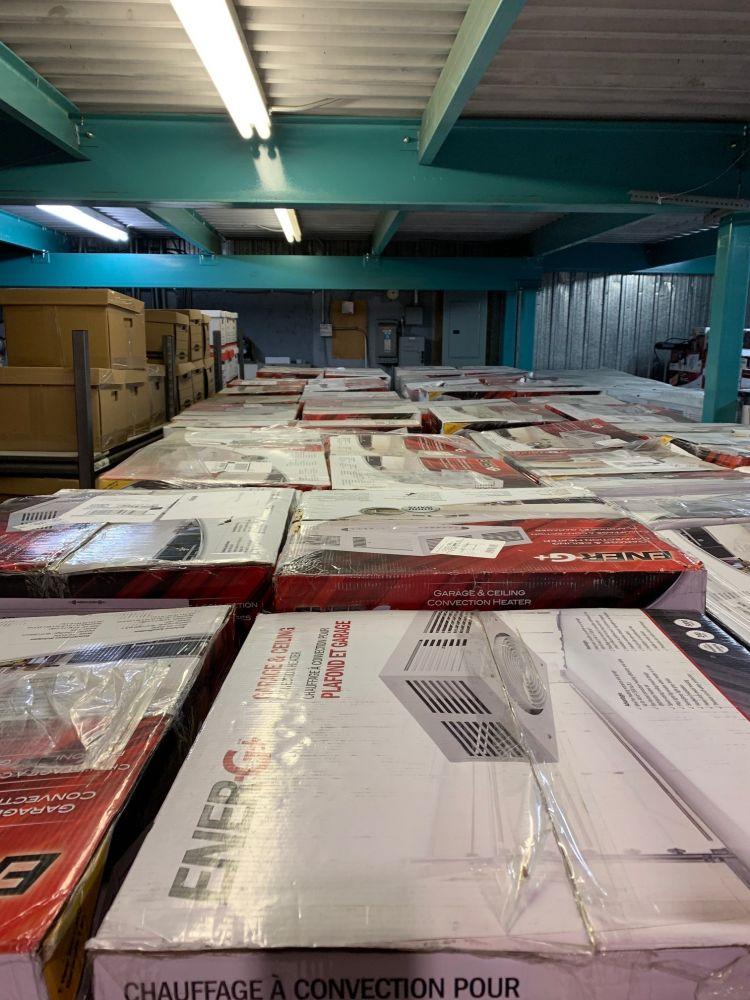 Lot 550 Chauffe Garage Plafonnier 5000watts 240volts Lots